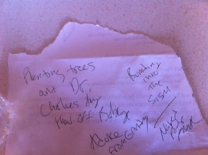my list