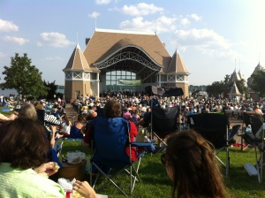 Concerts by the lake, a favorite summer past-time.