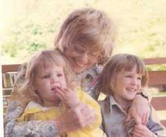 40 years ago with my sister and mom. Same bangs though!