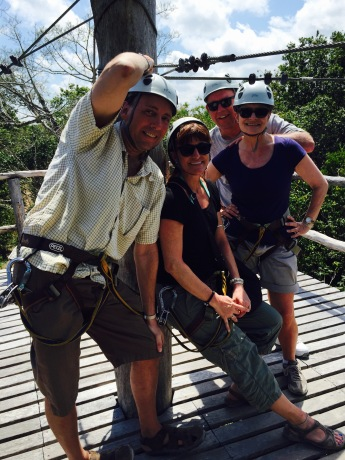 Ziplines in the jungle were a fun distraction from house-hunting.